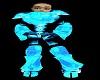 neon blue mech