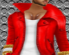 hot red leather jacket