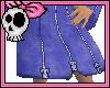Frozen Blue Zipper Skirt
