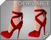 ~AK~ Red Wrap Heels