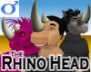 Rhino Head -Mens