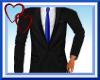W| Black Suit-Blue Tie