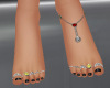 smiley face foot jewelry