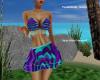 aqua striped swimsuit