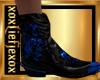 [L] Skull Blue Boots M