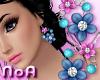 *NoA*Flower EarringsBlue