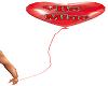 Valentines heart balloon