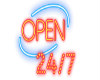 open 24 X 7 sign !
