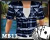 XI True Blue Plaid Shirt