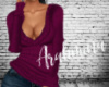V-Neck Sweater Plum
