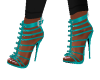 Zipper Teal Heels