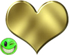 ~MDB~ SHINY GOLDEN HEART