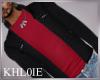 K steve red blk jacket