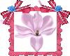 Flor satinada rosa LOVE