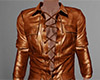 Brown Leather Shirt 5 M