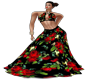 Vestido largo floreado