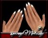 White Nails Black Tip