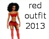 red outfit 2013