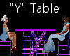"""""""Y"""" Club Table for 4"""