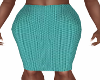 Marsha Teal Pencil Skirt