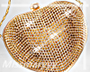 -Mm- Gold Heart Purse