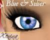 X Blue & Silver Eyes
