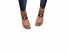 skull feet tat