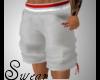 trey white/red shorts