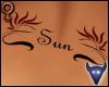 Sun back tattoo (f)