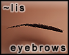 Eyebrows: dark brown