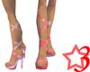 Pink Tie Up Stilleto