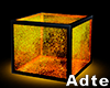 Neon Cube Chair Gold