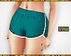 ! Teal Runner Shorts