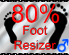 *M* Foot Resizer 80%