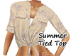 ~B~ Summer Tied Top Tan