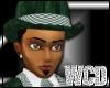 WCD green  hat