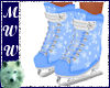 Dainty Blue Ice Skates