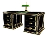 (1M)BLK-GOLD DESK Cpt.