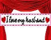 i love my husband - tag