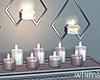 Silver Wall Candles