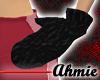 Fuzzy Black Mittens