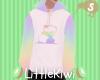 Rainbow Panda Hoodie M