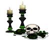 Halloween Skull & Candle