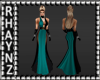 Ria Teal Evening Gown