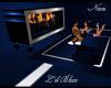B*Lil Blue Mod Fireplace