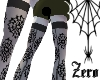Spiderweb stockings blak