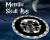 Metallic Skull Rug