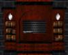 Blk/Brown Bookcase Radio