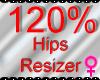 *M* Hips Resizer 120%