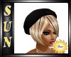 [SUN] Black Berret Hat